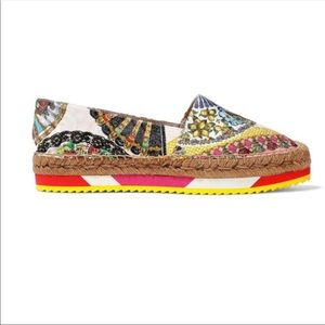 NEW Dolce & Gabbana Printed Espadrilles Size 7